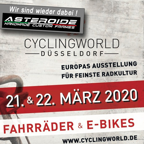 Cyclingworld 21. – 22.03.2020 in Düsseldorf